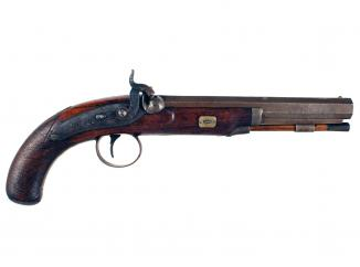 A Percussion Back Action Officers Pistol