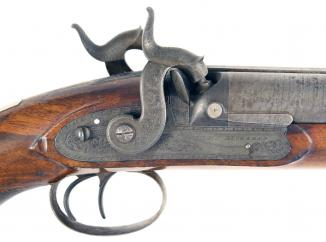 A Percussion Westley Richards Howdah Pistol