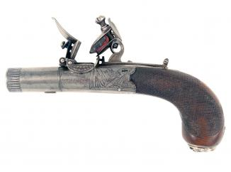 A Fine Flintlock Pocket Pistol by Wallis of Hull