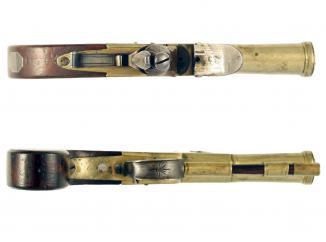 A Flintlock Blunderbuss Pistol by P. Bond