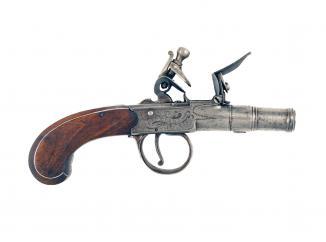 A Flintlock Pistol by Davis of Oxford