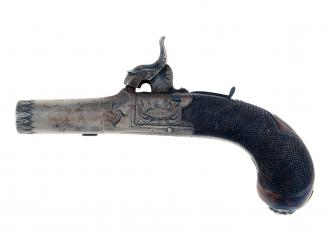 A Crisp Percussion Pocket Pistol by Ellis of London