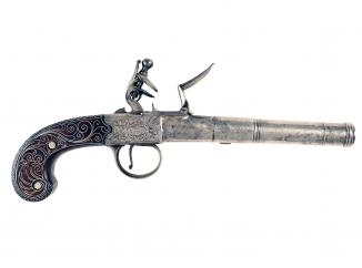 An Outstanding Pair of Cannon-Barrel Pistols