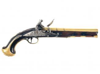 A Flintlock Holster Pistol by Buckmaster