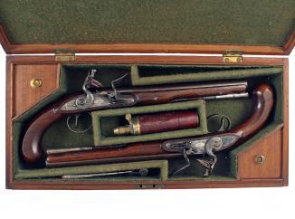 A Cased Pair of Flintlock Duelling Pistols