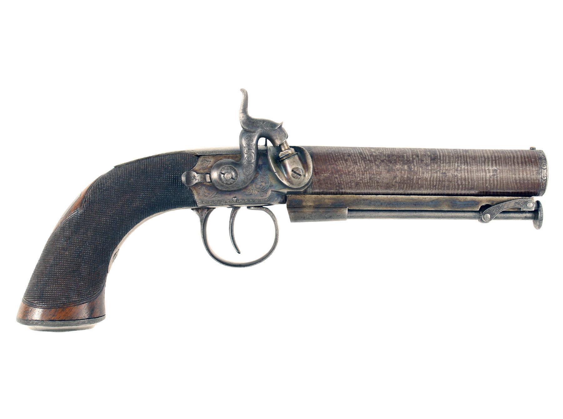 A Crisp PercussionBelt Pistol by Gibbs of Bristol