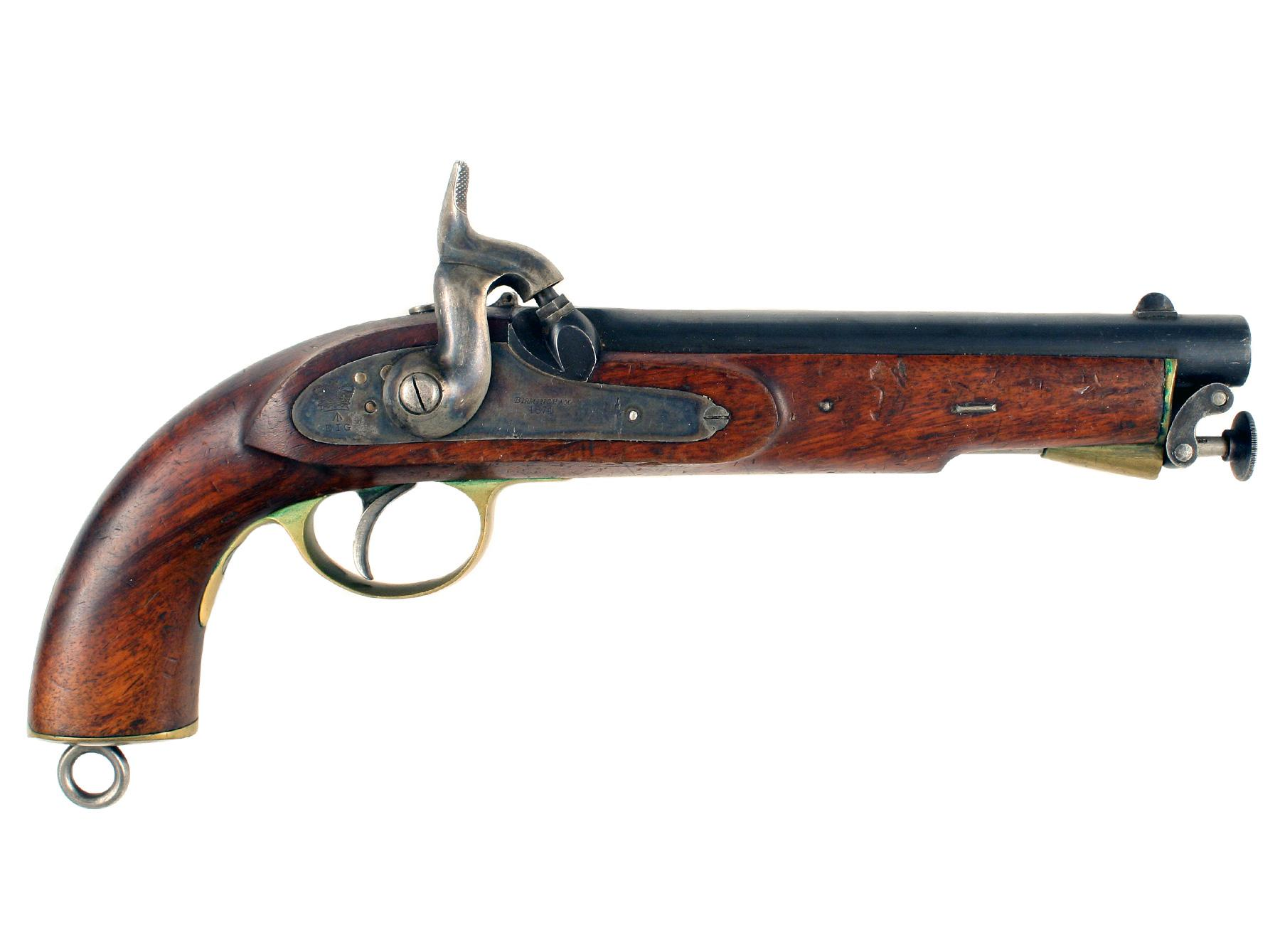 A Mint E.I.G. Percussion Pistol