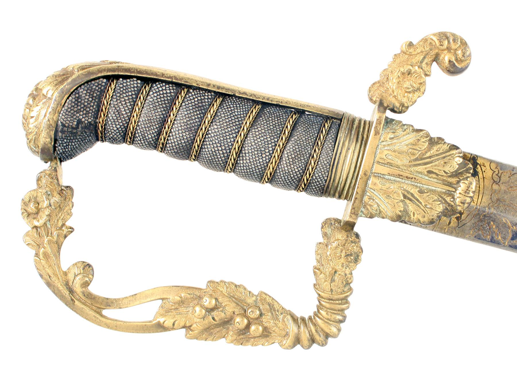 A Blue & Gilt Yeomanry Cavalry Officers Sword