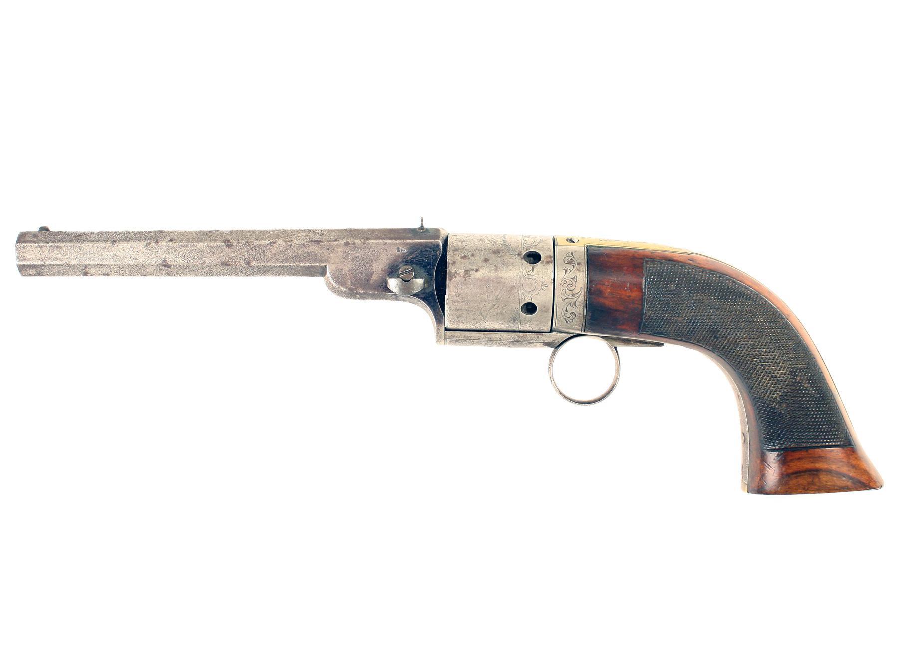 A Transitional Revolver ex. Harrod Collection