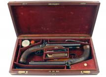 A Fine Pair of Percussion Howdah Pistols