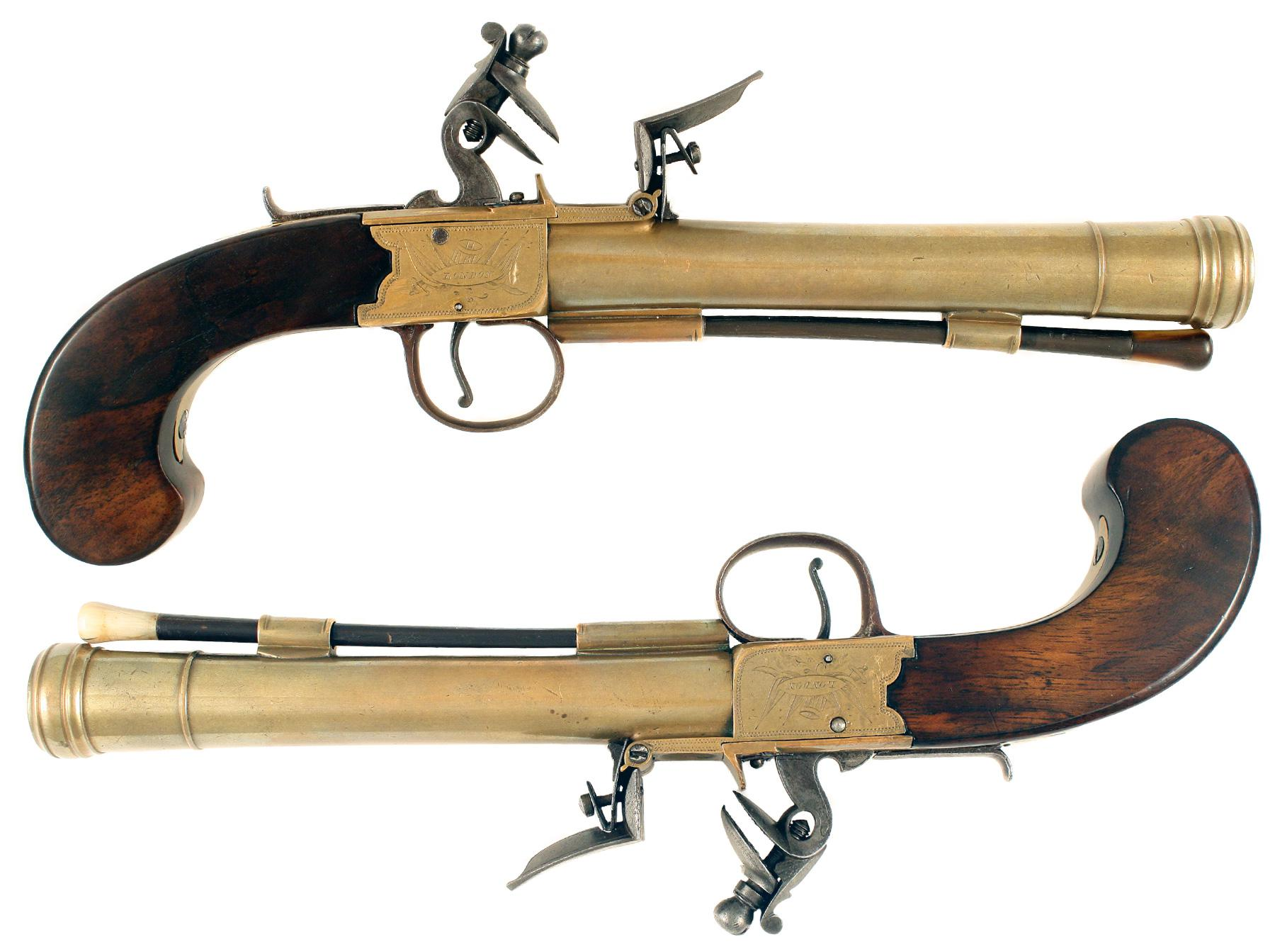 A Pair of Flintlock Blunderbuss Pistols