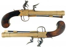A Pair of Flintlock Blunderbuss Pistols
