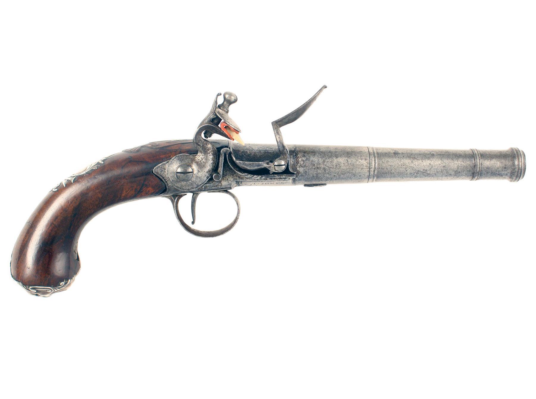 A Crisp Pair of Queen Anne Pistols by Jones.