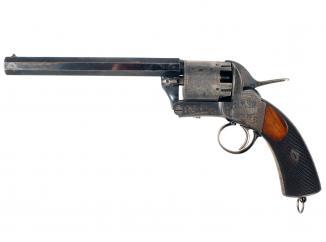 A Rare Cased Webley 'Longspur' Percussion Revolver