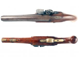 A Scarce Nock Screwless Lock Pistol