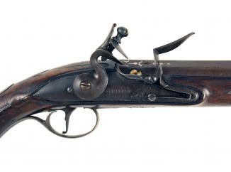 A Flintlock Holster Pistol by Griffin