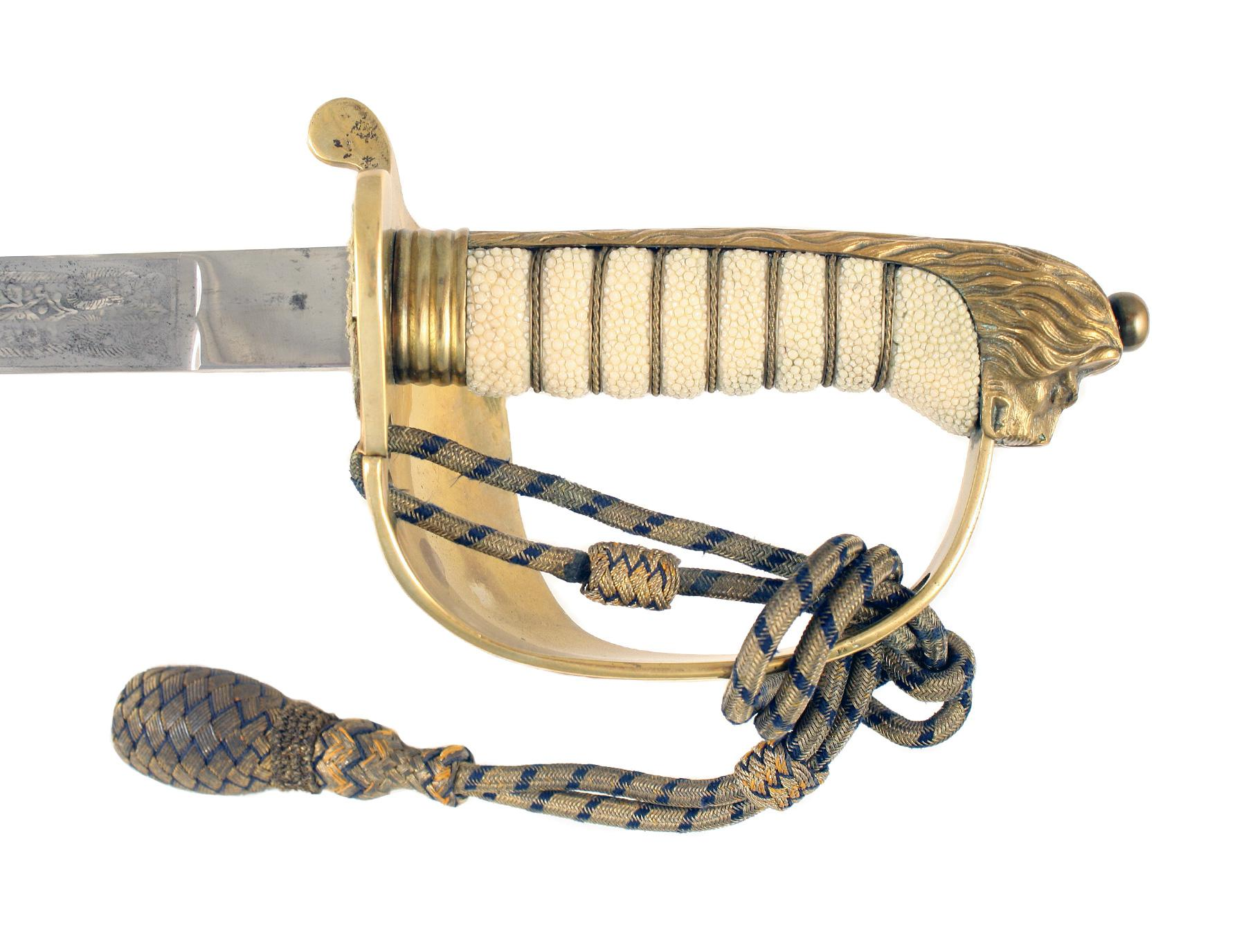 A Naval Officers Sword to G.S. Ward