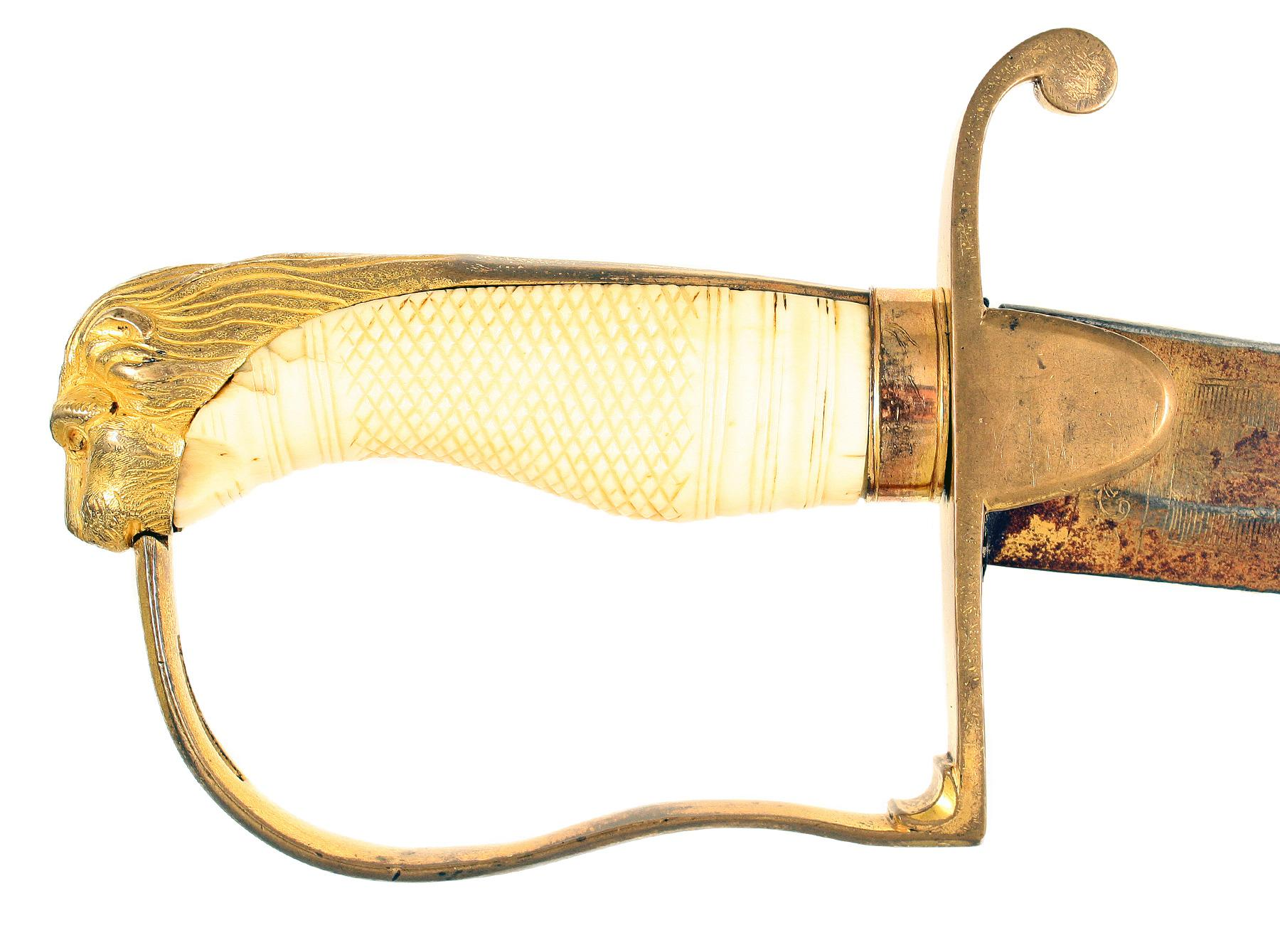 A Historic Blue & Gilt Sword