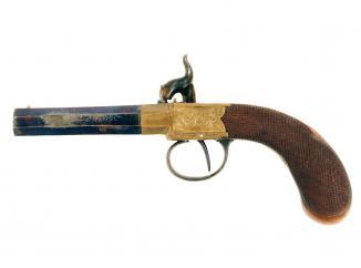A Crisp Cased Pair of Rifled Percussion Pistols