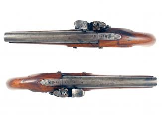 A Pair of Flintlock Officers Pistols