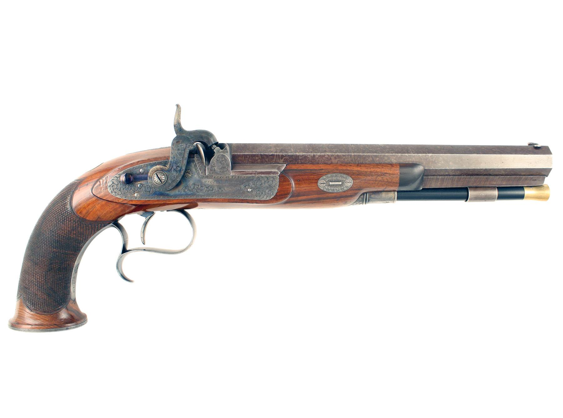 A Superb Percussion Pistol by W. Ellis