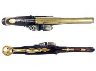 A 10-Bore Flintlock Horse Pistol by Columbell