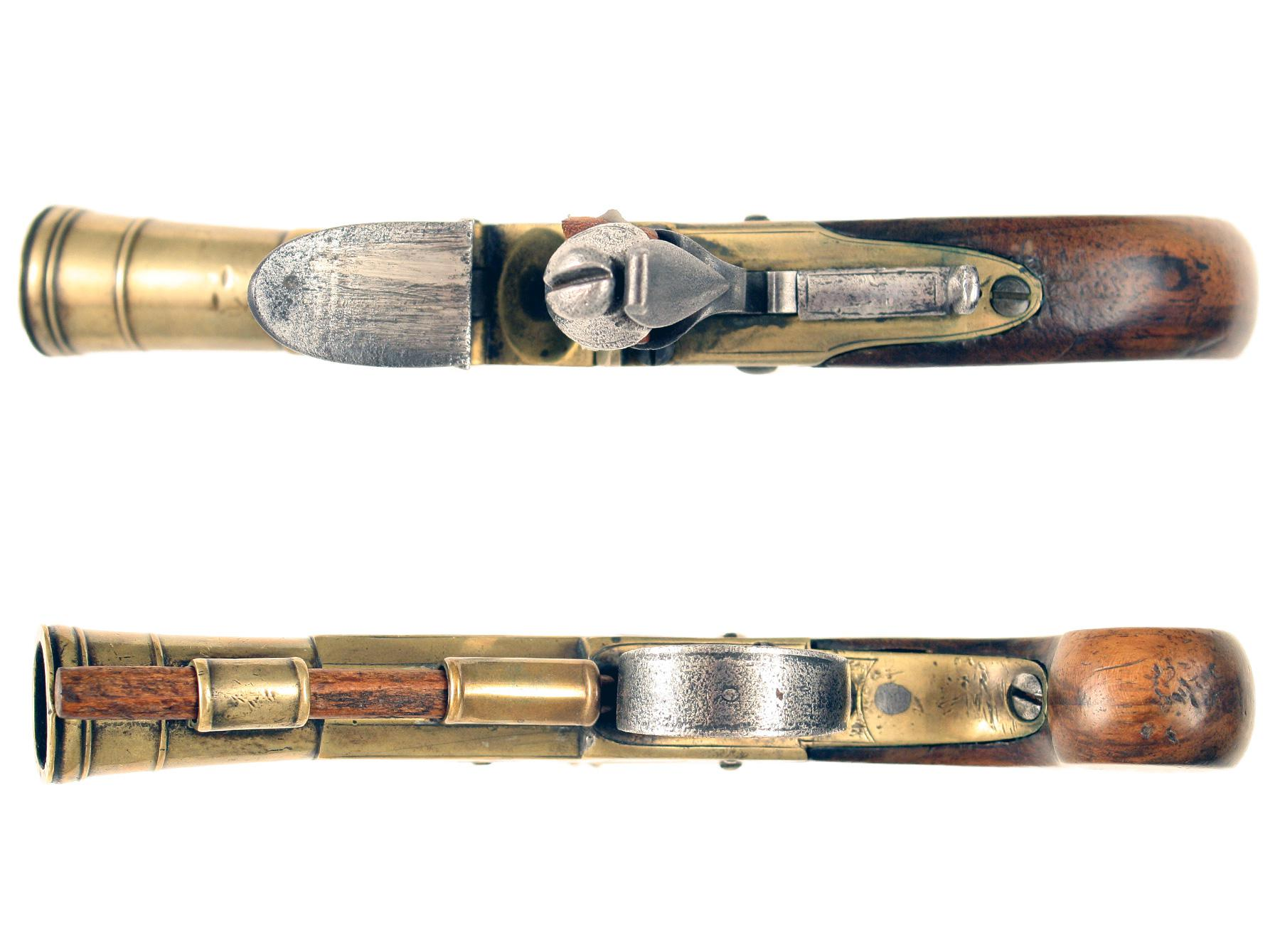 A Flintlock Blunderbuss Pistol by Reeves