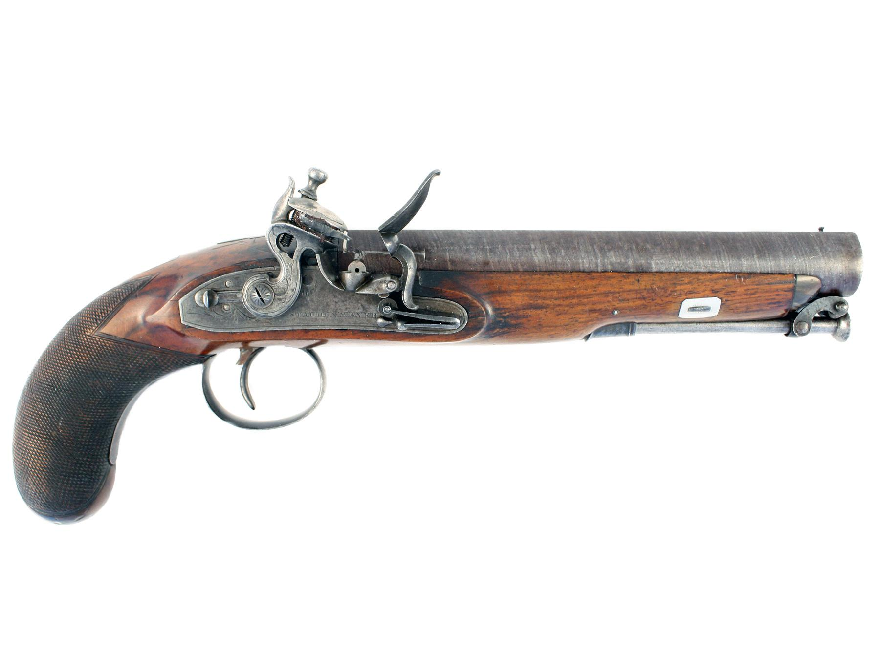A Flintlock Officers Pistol