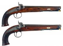 A Superb Pair of Cased Pistols by Calvert of Leeds