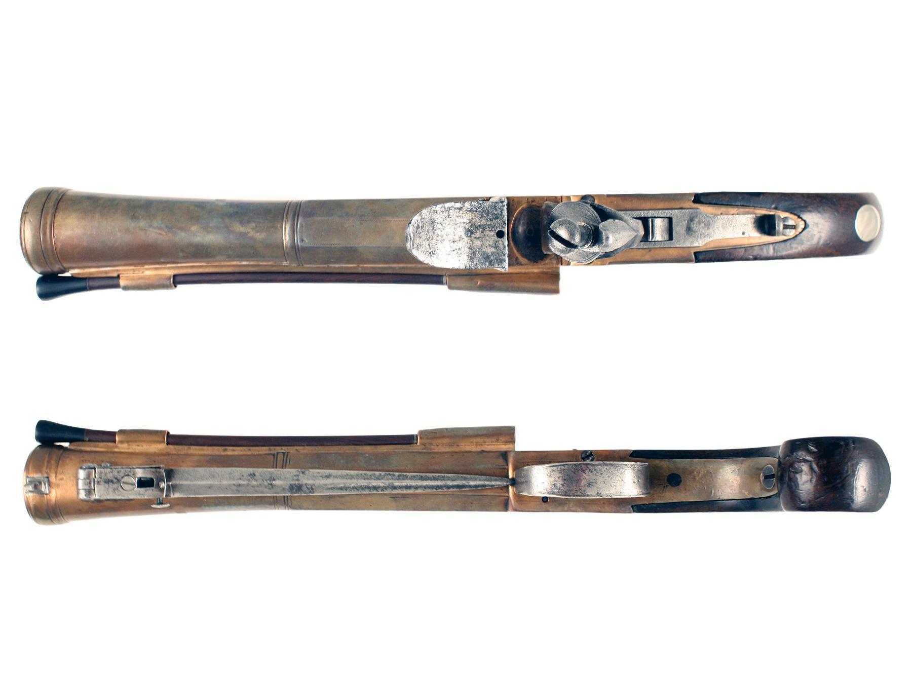 A Flintlock Blunderbuss Pistol by Wheeler