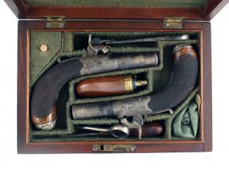 A Superb Cased Pair of Pocket Pistols