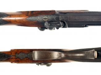 A Percussion Park Rifle by J. W. Edge