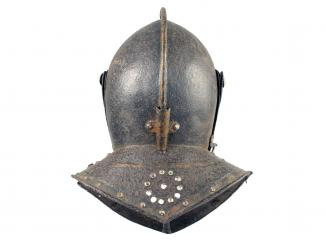 A Cuirassier Close Helm, 17th Century.