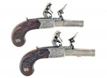 A Superb Pair of Small Flintlock Pocket Pistols
