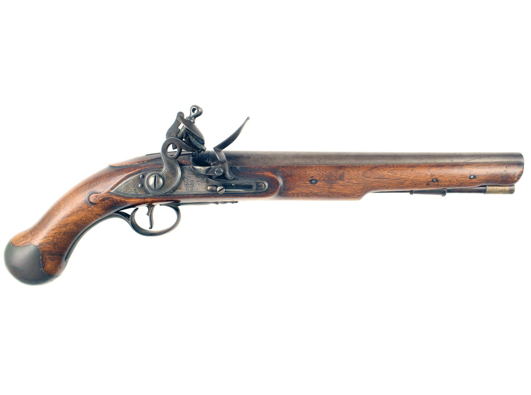 An Outstanding Flintlock Sea Service Pistol