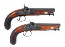 A Crisp Pair of Belt Pistols by W. Richards.