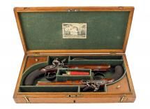 A Near Mint Cased Pair of Duelling Pistols