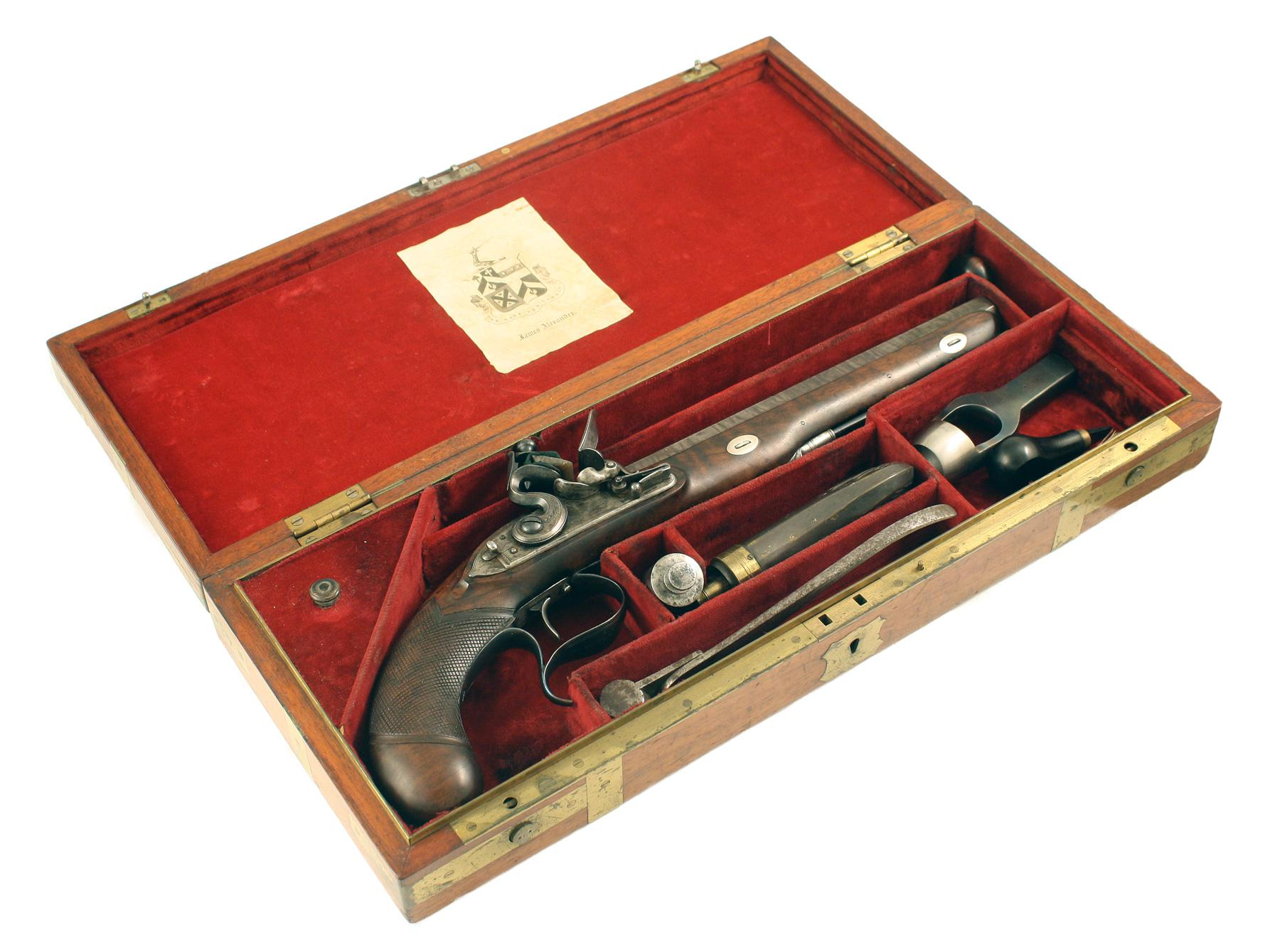 A Cased Flintlock Pistol
