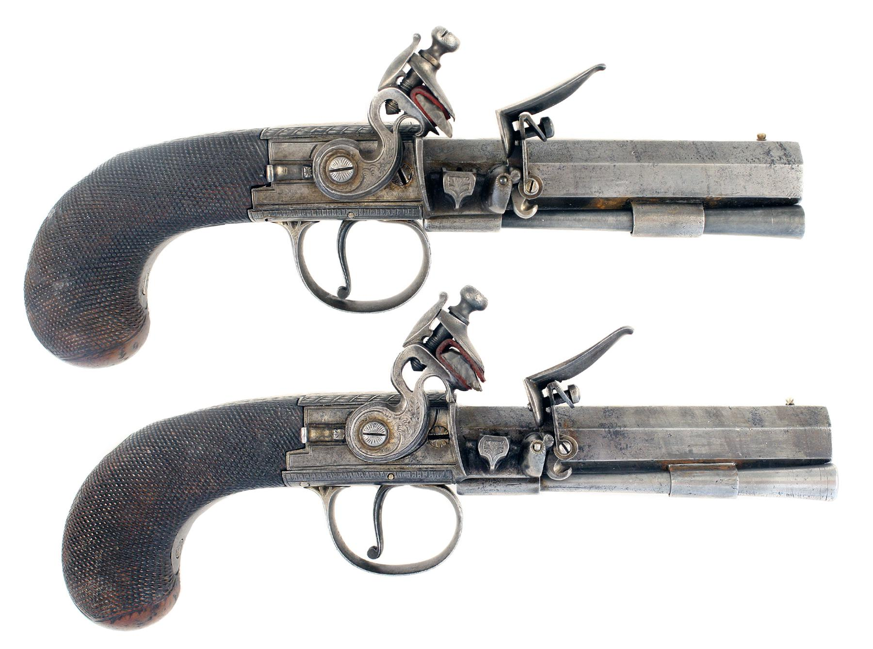 A Pair of Large Pistols by Patrick of Liverpool