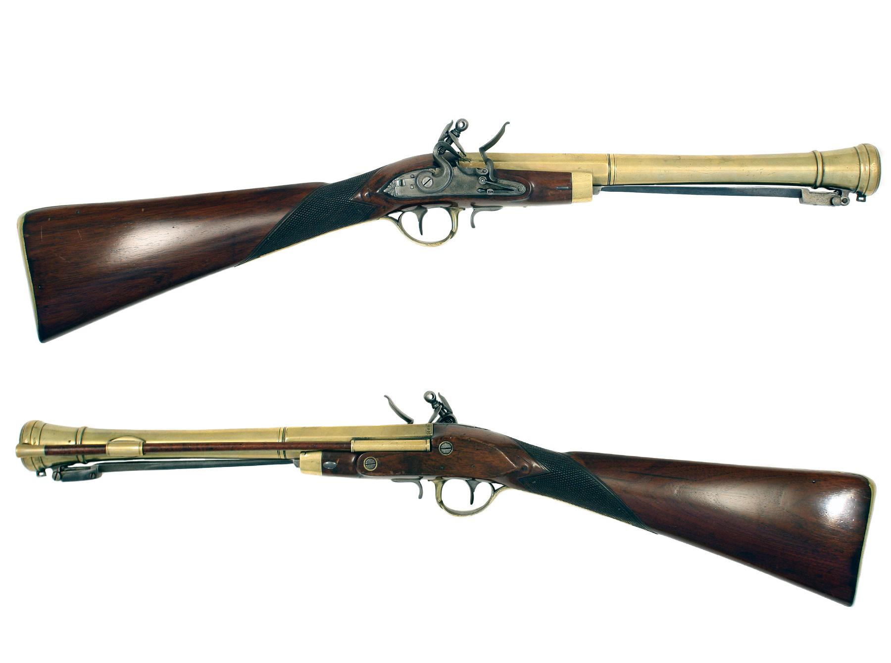 A Flintlock Blunderbuss by Aston of Manchester