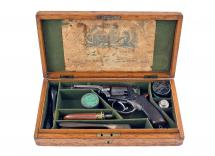 A Cased Percussion 4th Model Tranter Revolver.