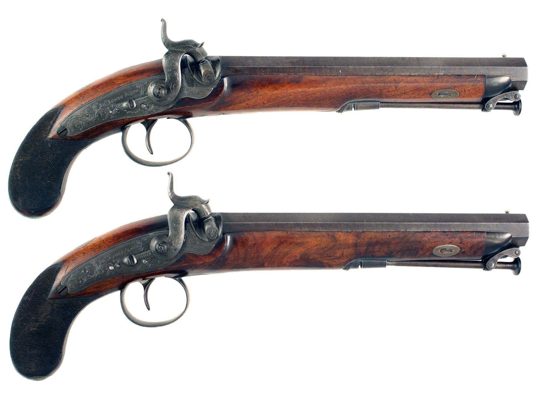 A Pair of Percussion Officers Pistols