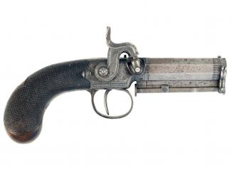 A Crisp Percussion Pocket Pistol by Manton & Co.