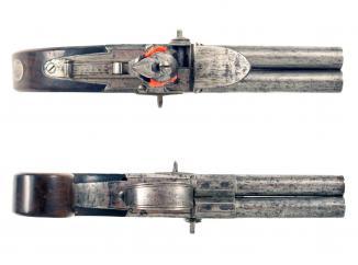 A Scarce 4-Barrel Flintlock Pistol by Nicholson