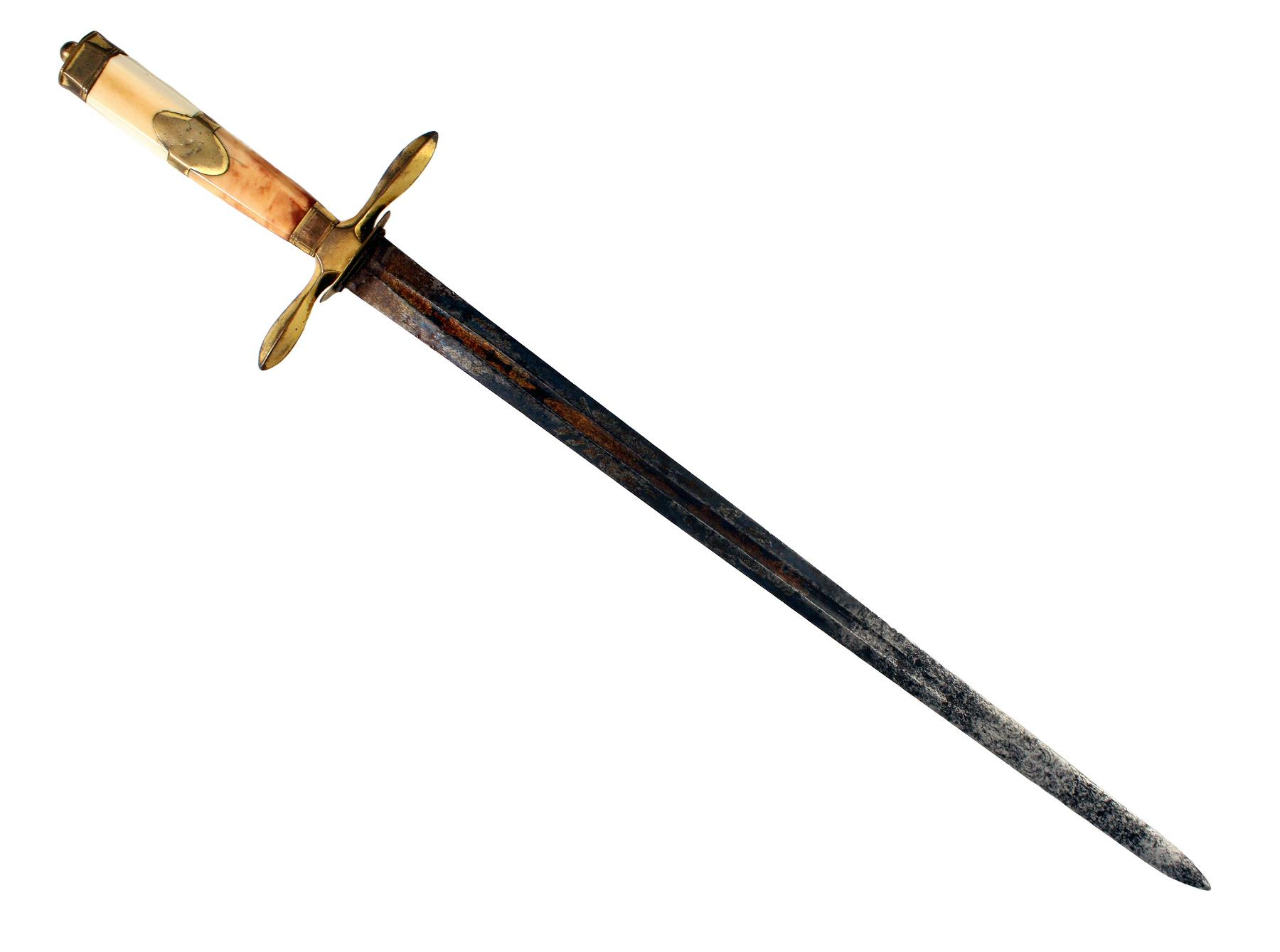 A Blue & Gilt Naval Dirk
