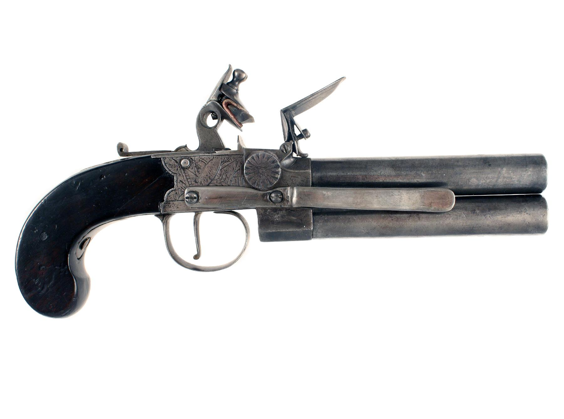 A Huge Rifled Flintlock Tap Action Pistol