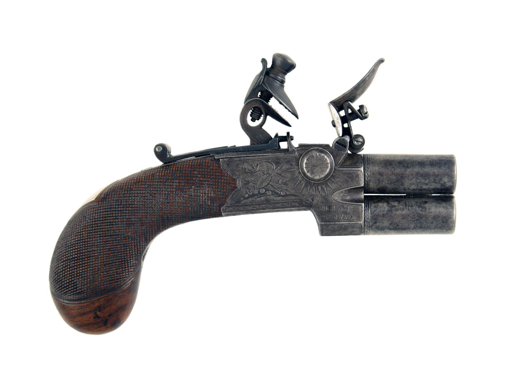 A Small Flintlock Over & Under by D. Egg
