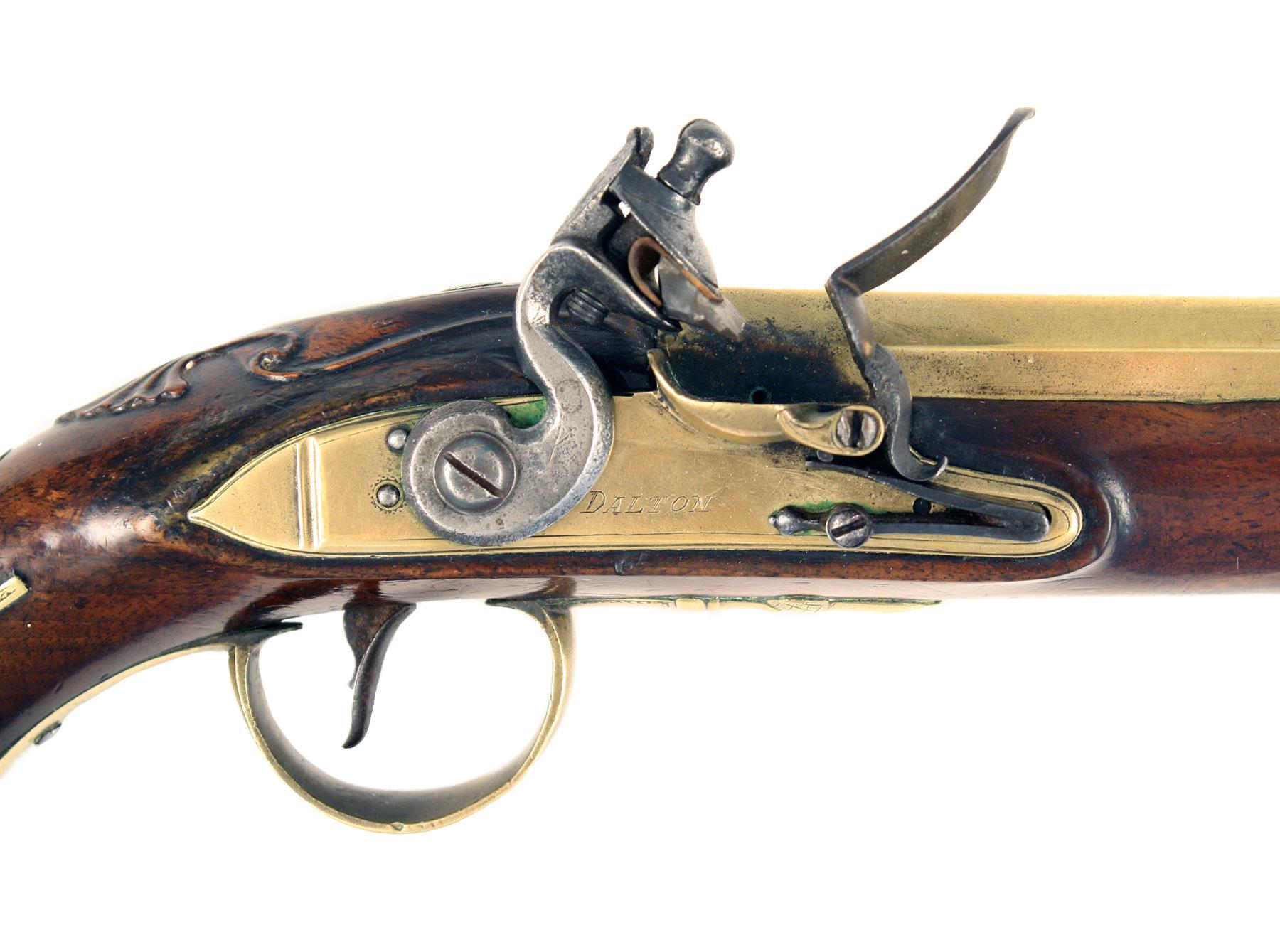 A Flintlock Blunderbuss Pistols by Dalton of Dublin