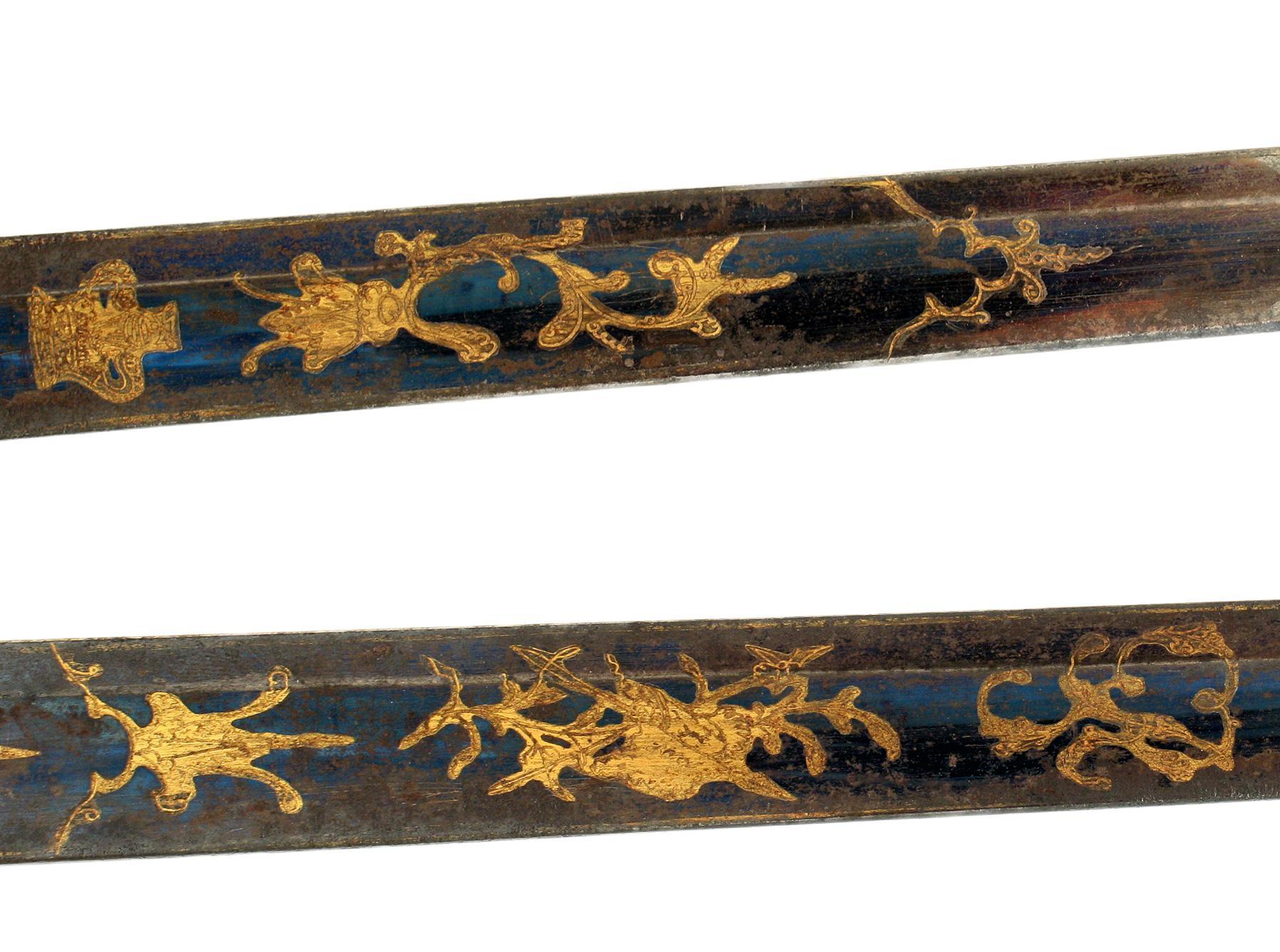 A Naval 1805 Pattern Blue & Gilt Sword