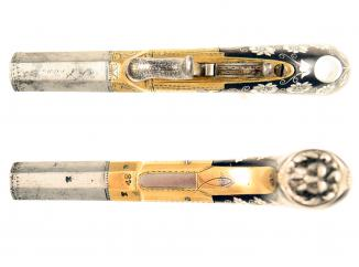 A Superb Silver Inlaid Percussion Pocket Pistol